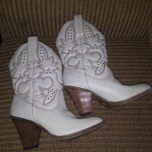 MIA Laredo White Leather Western Boots